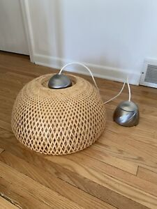 Excellent Condition IKEA BOJA Wicker Light Fixture