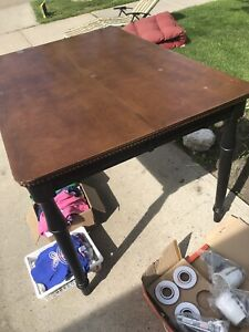 Bar height Wooden table with leaf