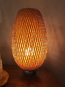 Wicker Lamp with Bulb