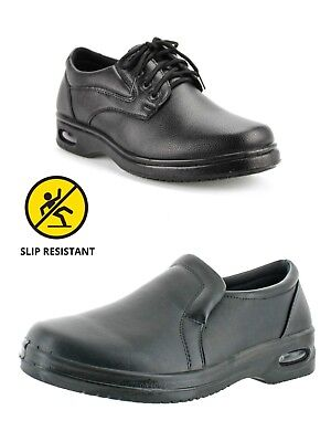New Mens Non-slip Chef Shoes Kitchen Oil-resistant Waterproof Work Leather - Waterproof Leather Non Insulated Boot