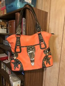 Orange Bling Purse