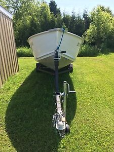 16 foot with 25hp Johnson motor and trailer
