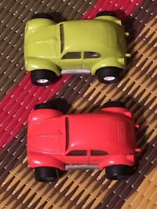 "Two vintage Tonka 3"" VW Beetle toy cars"