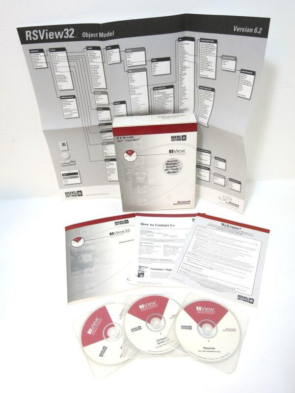 Allen Bradley 93012SE2200 RSView 32 Works 300 PLC Software Rev 6.40 9301-2SE2200