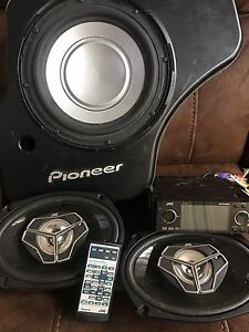 JVC deck, JVC speakers and Pioneer Sub for car stereo