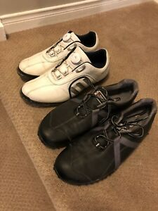 Adidas Pure Metal Boa and Footjoy Project M Golf shoes 11.5