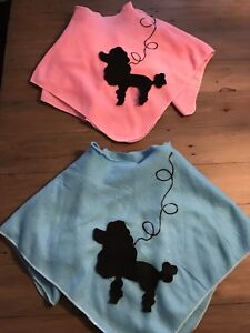 Girl Poodle Skirts - Pink and Blue - Size 6/7
