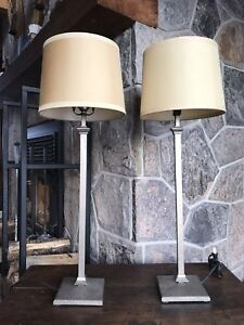 Restoration Hardware lamps ($90/each)