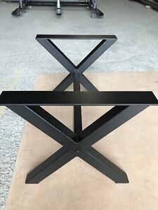 Metal table legs and base for sale ( powder coated )