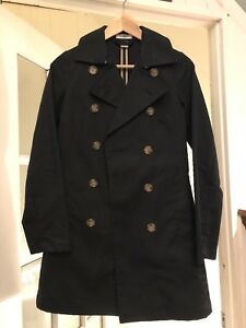 Women's black old navy trench coat. X-small