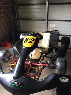 Kart, SQ with X30 engine, all spares and wheels, $3500