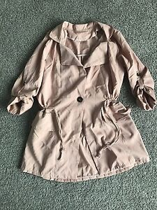 Soft pink ladies coat M