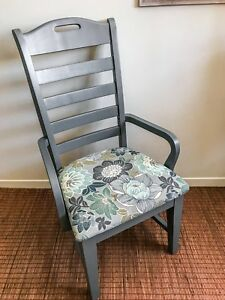 Beautiful Accent Chair-Grey painted, Solid wood