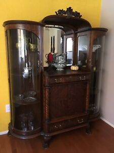 Antique China Cabinet With Glass Doors   Buy And Sell ...