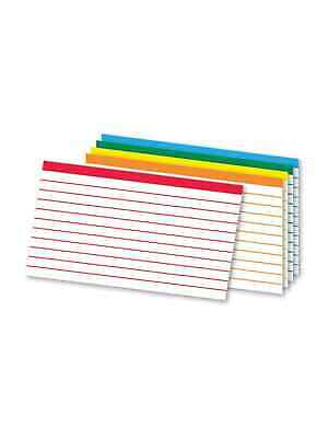 Oxford Color Coded Ruled Index Cards 3 X 5 Assorted Colors 100pack