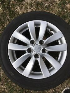 2014 Kia Forte Factory Rims with 2017 205/55/16 Summer Tires