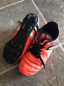 Boys age 5 Soccer cleats and pads