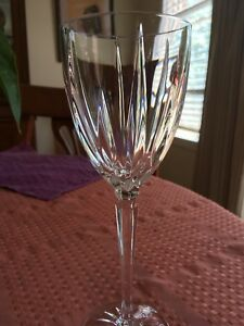 Crystal wine goblets 6x