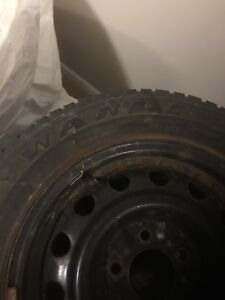 4 M+S tires and steel rims size 15 (195/65 R15)