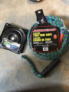 Airhead tube tow rope and a large boat seat swivel