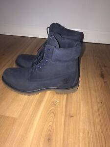 Men's timberlands blue leather new original shoes size 10