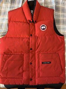 Red Canada Goose Vest