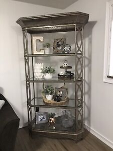 shelving unit, coffee table & side table