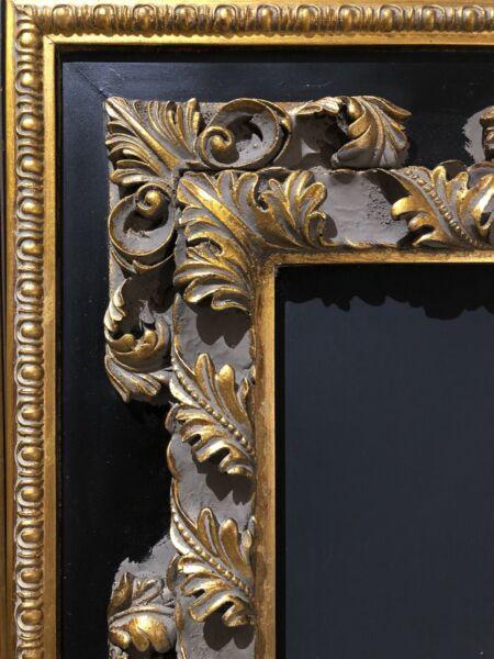 3f534623ff4 Black   Gold Ornate Blackboard Chalkboard French Vintage Frame ...