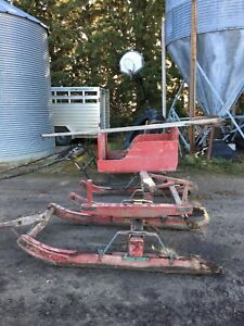 HORSE SLEIGH AND LARGE SLEIGH RUNNERS