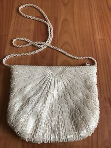 Small beaded purse with long strap