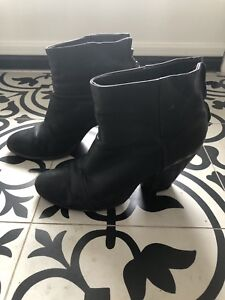 Rag and Bone black leather bootie.