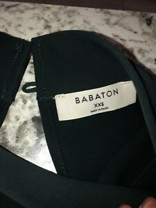 Babaton women's size xxs blouse, New. Dark green