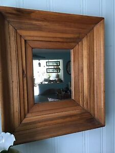 Beautiful 3 D pine Antique Mirror