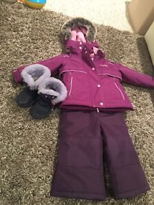 Snowsuit and boots -like new 18 months