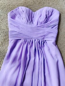 *LONG LILAC STRAPLESS DRESS SIZE:XS*