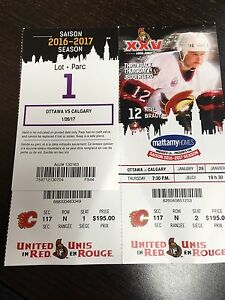 2 TICKETS WITH PARKING  January 26 against Calgary SWAP/TRADE