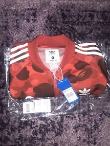 Red BAPE / adidas track jacket brand new with tags and receipt