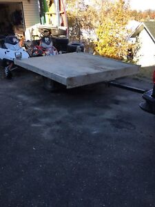 Snowmobile/quad/side x side trailer