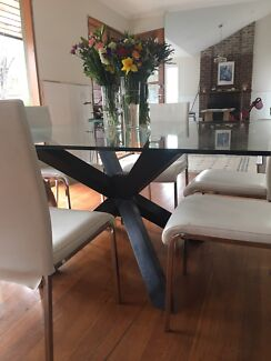 Adriatic Square Glass Dining Table And Chairs Can Purchase Separate