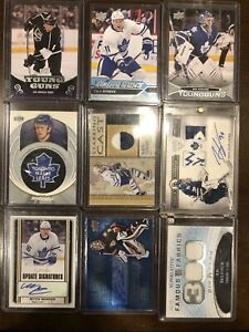 Toronto Maple Leaf hockey Cards YG auto patch Marner