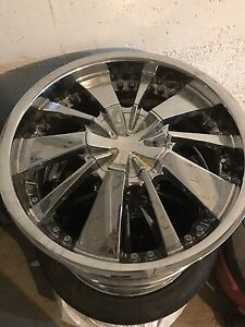 GET READY FOR SUMMER. CHROME RIMS 18""