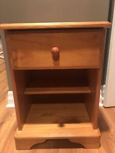Solid wood night table for sale.