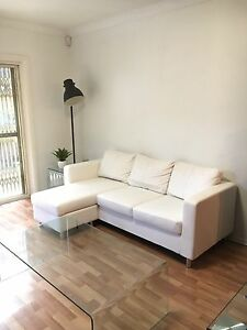 As new white 2.5 seat sofa lounge with chaise Camperdown Inner Sydney Preview