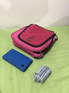 Blue Nintendo DSI with Pink Case