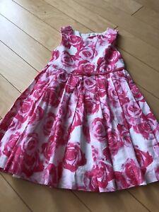 Oshkosh linen flower dress size 2