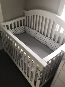 Almost brand new crib and mattress for sale
