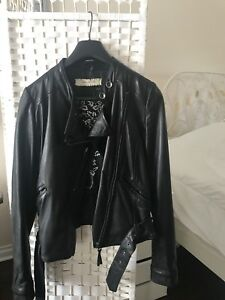 Fornarina Leather Moto Jacket
