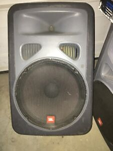 JBL eon PA speakers non powered