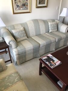 Sofas - One 3-seater and two single seaters - good as new,