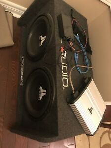 "JL Audio 12"" Subwoofer and amp"